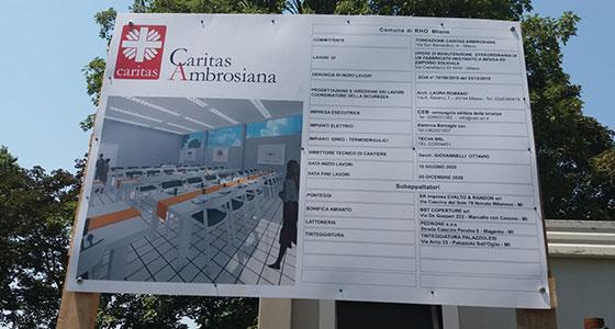 Il cantiere della nuova mensa Caritas a Rho è aperto